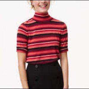 LOFT Orange,Brown, Black Knit Top.18248